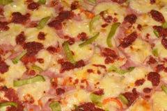 Дом сделал крупный план пиццы - отмелый DOF Стоковые Фото