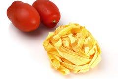 Дом сделал макаронные изделия яичка Стоковые Изображения RF