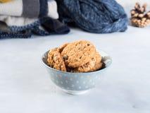 Дом сделал печенья обломока шоколада в шаре Стоковое Изображение