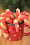 Дом сделал печенья тросточки конфеты Стоковые Изображения RF