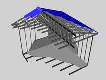 Дом с металлической конструкцией Стоковая Фотография