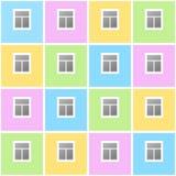 Дом с окнами Стоковые Фотографии RF