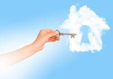 Дом с отверстием для ключа Стоковое Изображение RF