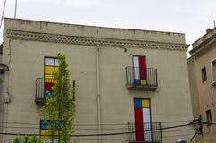 Дом с пестроткаными окнами Стоковая Фотография