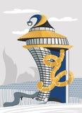 Дом с спиральной трубкой Стоковые Изображения RF