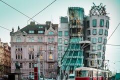 Дом танцев на Праге, чехии стоковые изображения rf