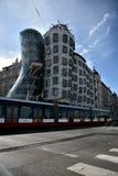 Дом трамвайной линии и танцев в Праге Стоковые Фотографии RF