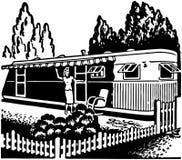 Дом трейлера иллюстрация штока