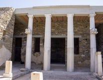 Дом трёхзубца на Delos Стоковая Фотография RF