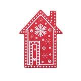 Дом украшения рождества деревянный Стоковое Изображение