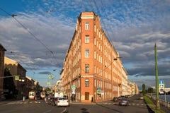 Дом утюга в улице Sadovaya, Санкт-Петербурге Стоковое Изображение