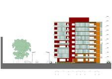 дом фасада жилища иллюстрация штока