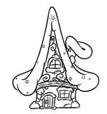 Дом феи рождества иллюстрация вектора