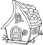 Дом феи стиля Doodle стоковые изображения