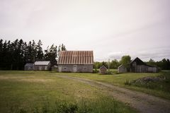 Дом фермы в стране Стоковое Изображение