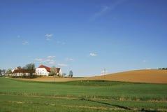 дом фермы сиротливая Стоковая Фотография