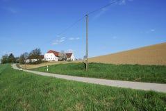 дом фермы сиротливая Стоковые Фотографии RF