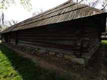 Дом фермы - стены деревянных амбаров стоковое изображение