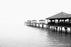 Дом ходулей в безграничность стоковая фотография rf