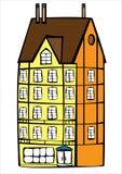 Дом цвета вектора винтажный изолированный на белизне Стоковая Фотография