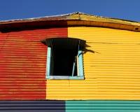 Дом цвета старый.  Улица Caminito, Буэнос-Айрес Стоковое Изображение