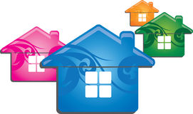 Дом цвета Стоковые Изображения