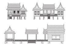 Дом центрального Таиланда Стоковое Изображение
