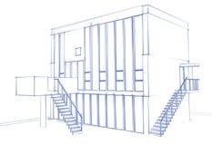 Дом чертежа Стоковое Изображение