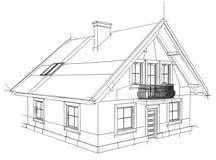 Дом чертежа Стоковое Изображение RF