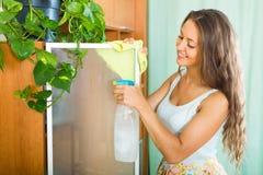 Дом чистки женщины Стоковое Изображение