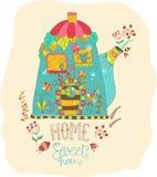 Дом шаржа цвета Стоковое фото RF