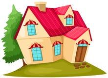 дом шаржа иллюстрация штока
