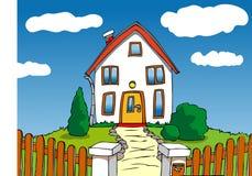 дом шаржа Стоковые Фотографии RF