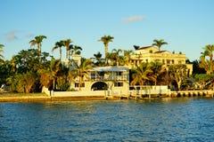 Дом южного пляжа Майами роскошный Стоковые Фото