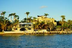 Дом южного пляжа Майами роскошный Стоковое Фото