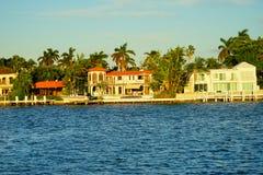 Дом южного пляжа Майами роскошный Стоковые Изображения RF