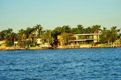 Дом южного пляжа Майами роскошный Стоковое Изображение