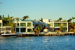 Дом южного пляжа Майами роскошный Стоковое Изображение RF