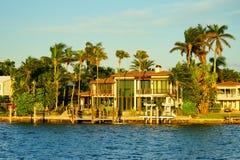 Дом южного пляжа Майами роскошный Стоковое фото RF