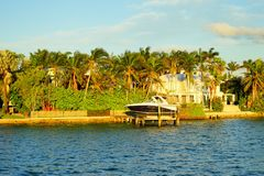 Дом южного пляжа Майами роскошный Стоковая Фотография RF