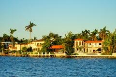 Дом южного пляжа Майами роскошный Стоковые Изображения