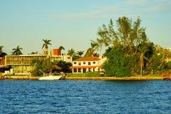Дом южного пляжа Майами роскошный Стоковые Фотографии RF