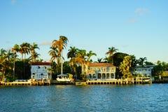Дом южного пляжа роскошный Стоковое Изображение RF
