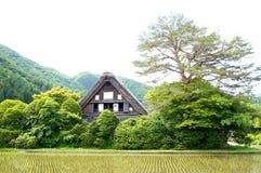 Дом Японии традиционный внутри Shirakawa-идет Стоковые Изображения