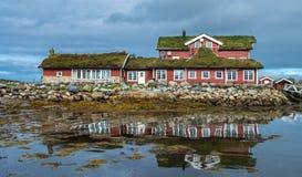 Дом для гостей Hustadvika расположенный около дороги Атлантического океана Стоковая Фотография