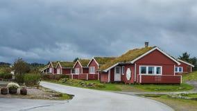 Дом для гостей Hustadvika расположенный около дороги Атлантического океана Стоковая Фотография RF