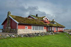 Дом для гостей Hustadvika Стоковое Изображение