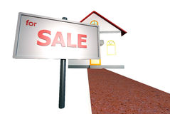 Дом для продажи Стоковое Изображение