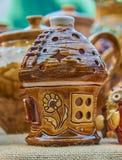 Дом для свечей - handmade гончарня от глины Стоковые Изображения