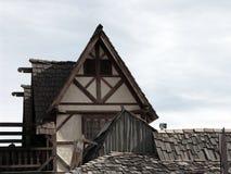 дом 12 деталей средневековая стоковое изображение